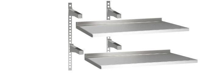 Mensole acciaio per cucina scaffale mensole mdf e acciaio for Ikea mensole acciaio