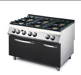 Modular cucina 6 fuochi gas su forno gas linea modular - Manutenzione cucina a gas ...