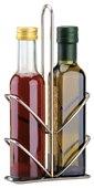 Portabottiglie per olio e aceto in acciaio inox