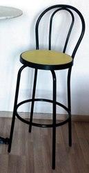 Redi sgabello bar in acciaio verniciato nero con seduta in simil