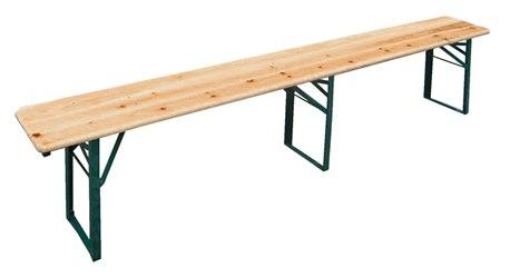 Gambe Pieghevoli Per Tavoli Birreria.Redi Panca Piano In Legno Misura 220 Cm Con Gambe Pieghevoli In