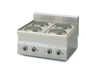 Cucina 4 piastre elettriche da appoggio 6 kw metro catalogo - Cucine con piastre elettriche ...