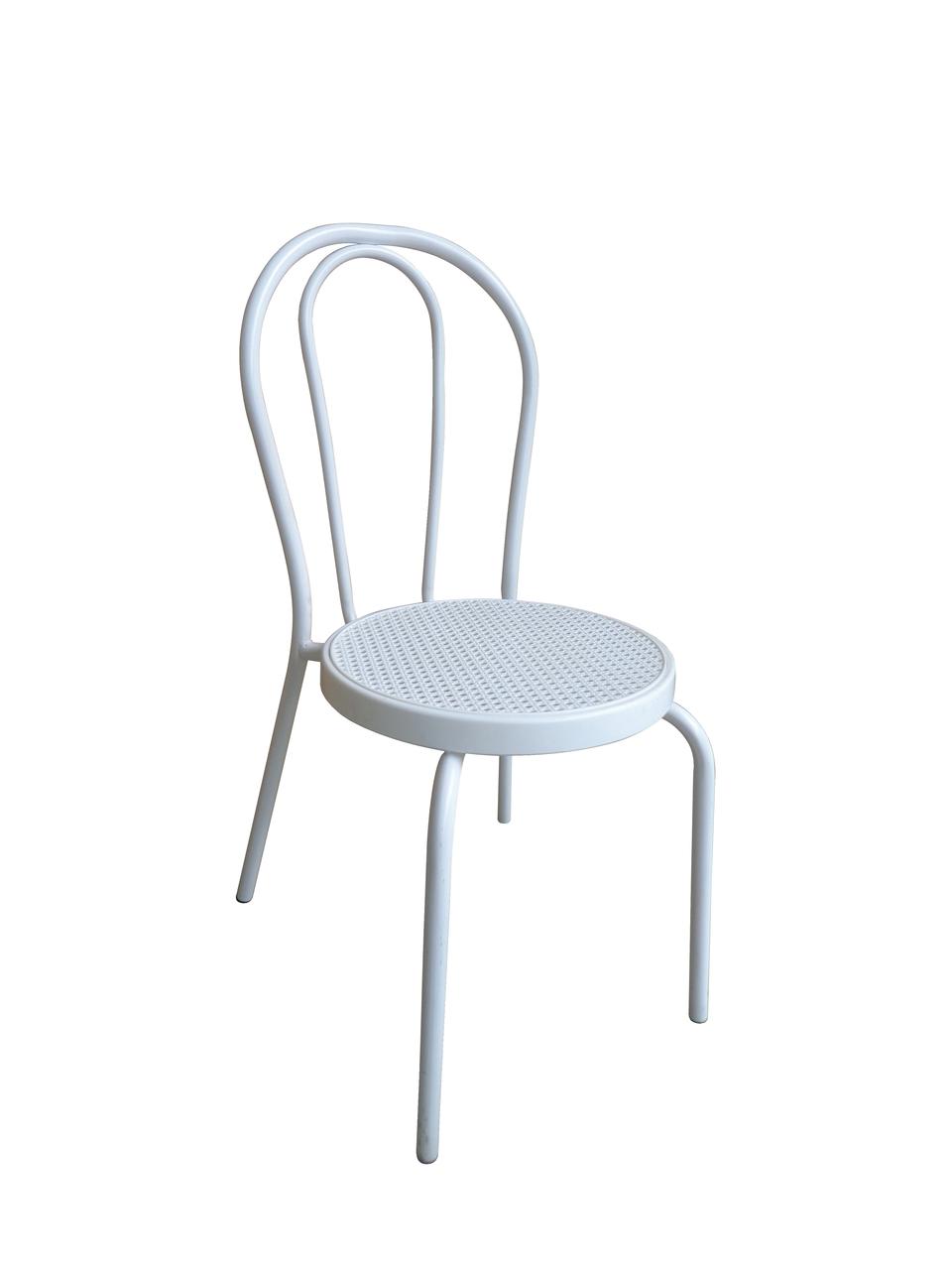 Redi sedia impilabile in metallo verniciato bianco con sefuta in