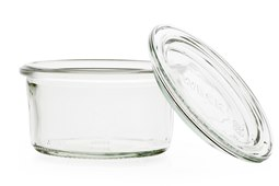 Vasetto vetro con coperchio