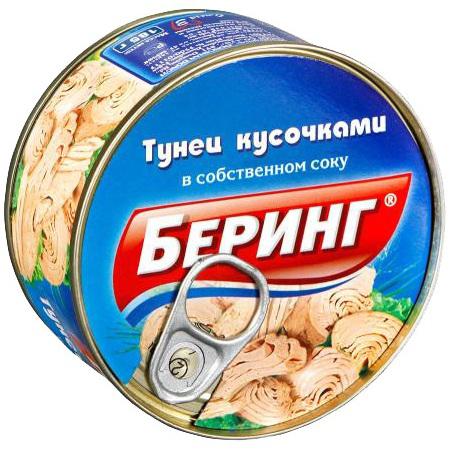 185Г ТУНЕЦ КУСОЧ МАС КЛ БЕРИНГ
