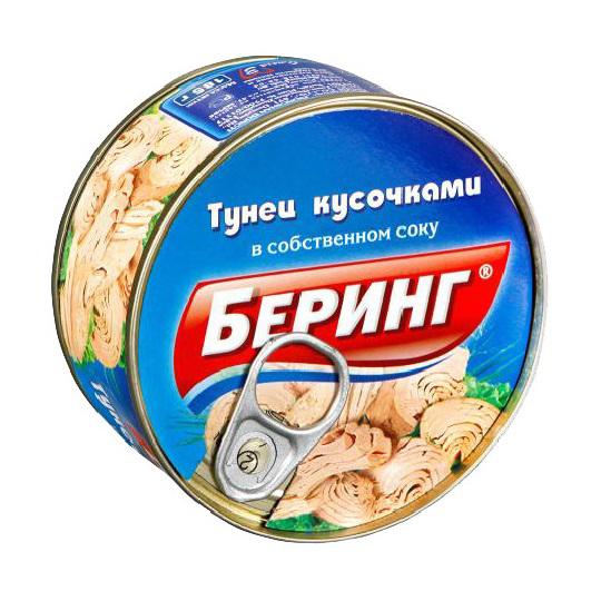 185Г ТУНЕЦ КУСОЧ С/С КЛ БЕРИНГ