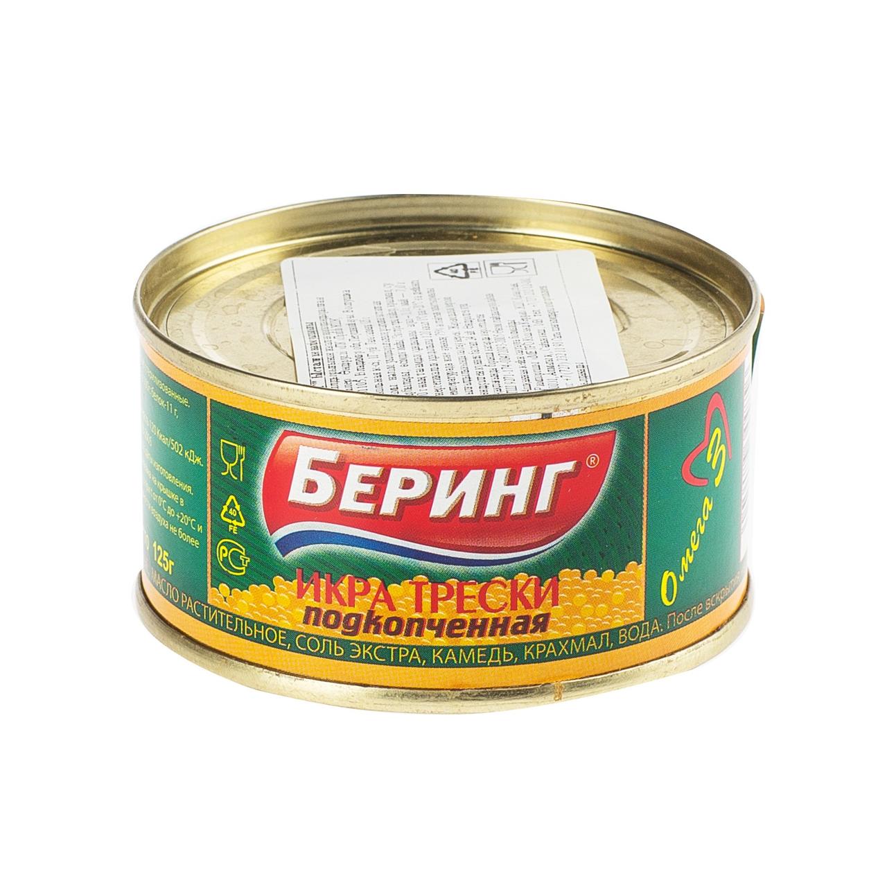 125Г ИКРА ТРЕСКИ ПОДКОПЧЕН БЕР