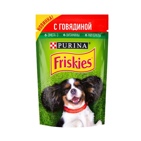 85Г FRISKIES Д/СОБАК ГОВЯДИН