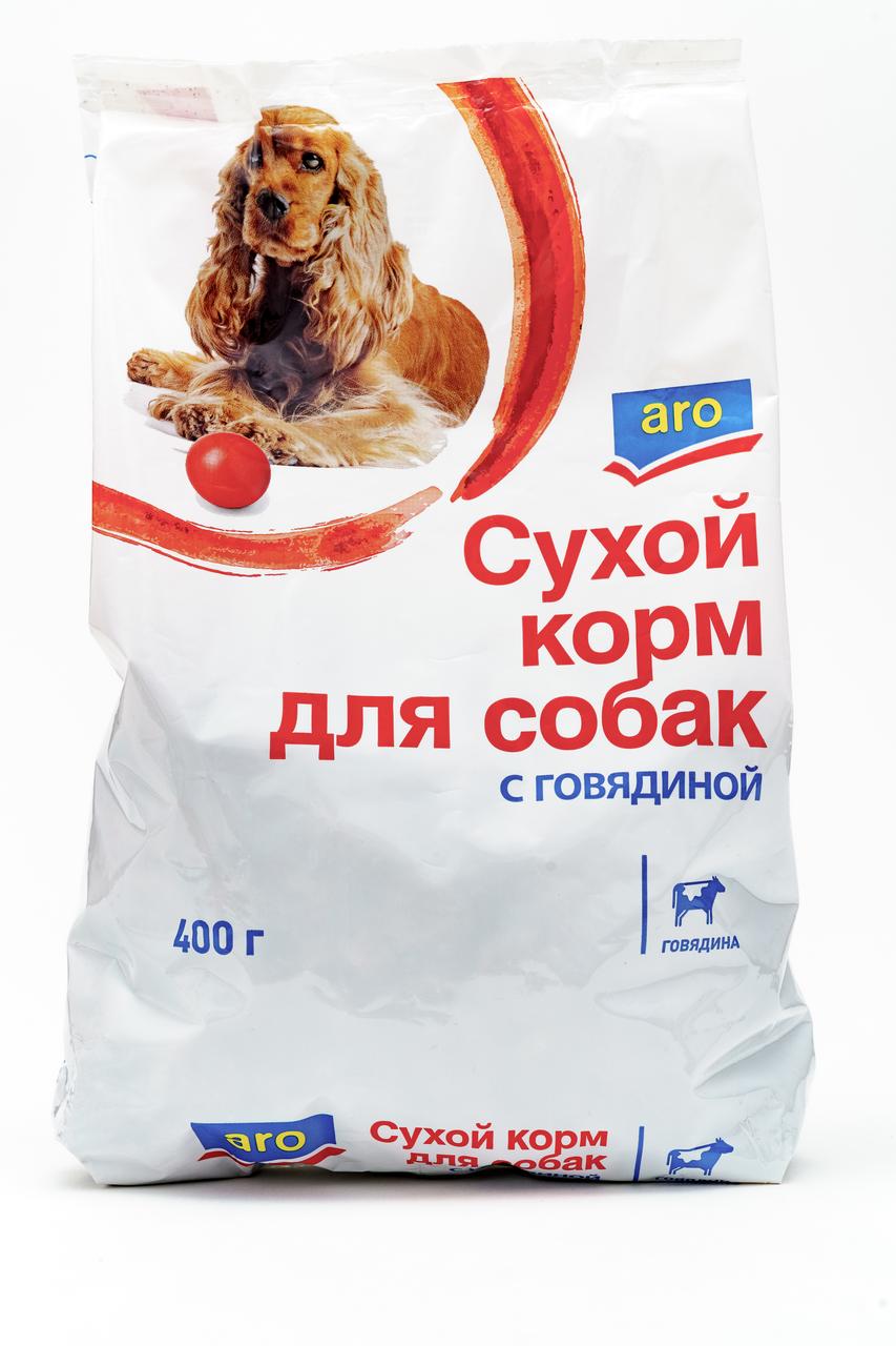 400Г СУХ КОРМ Д/СОБ ГОВЯД ARO