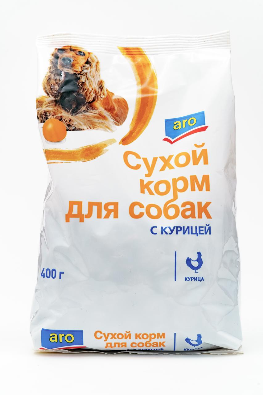 400Г СУХ КОРМ Д/СОБ КУР ARO