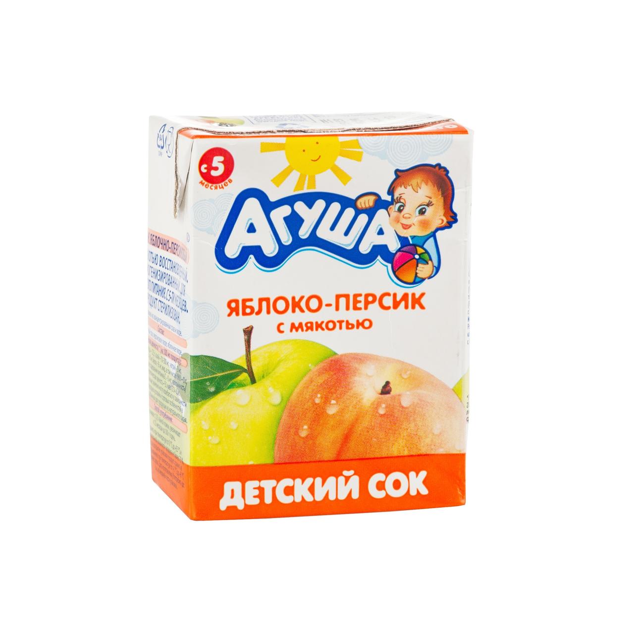 200МЛ СОК АГУША ЯБЛОКО/ПЕРСИК
