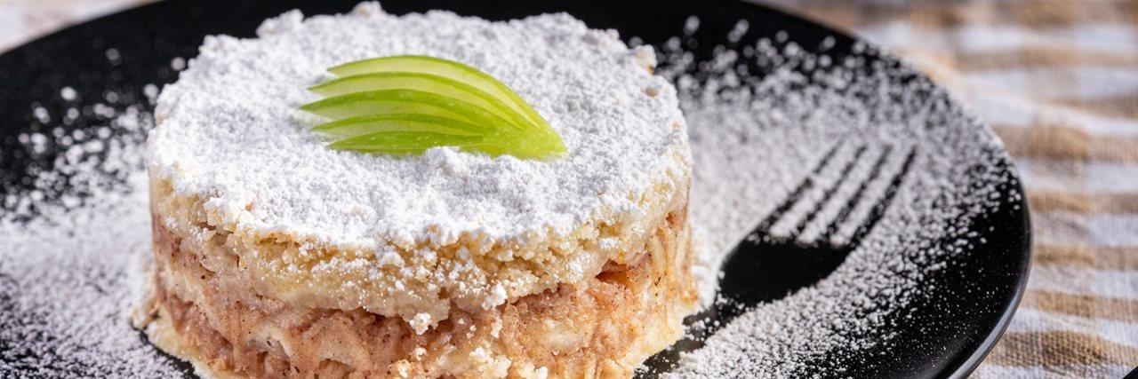 Сладкиш с грис и ябълки