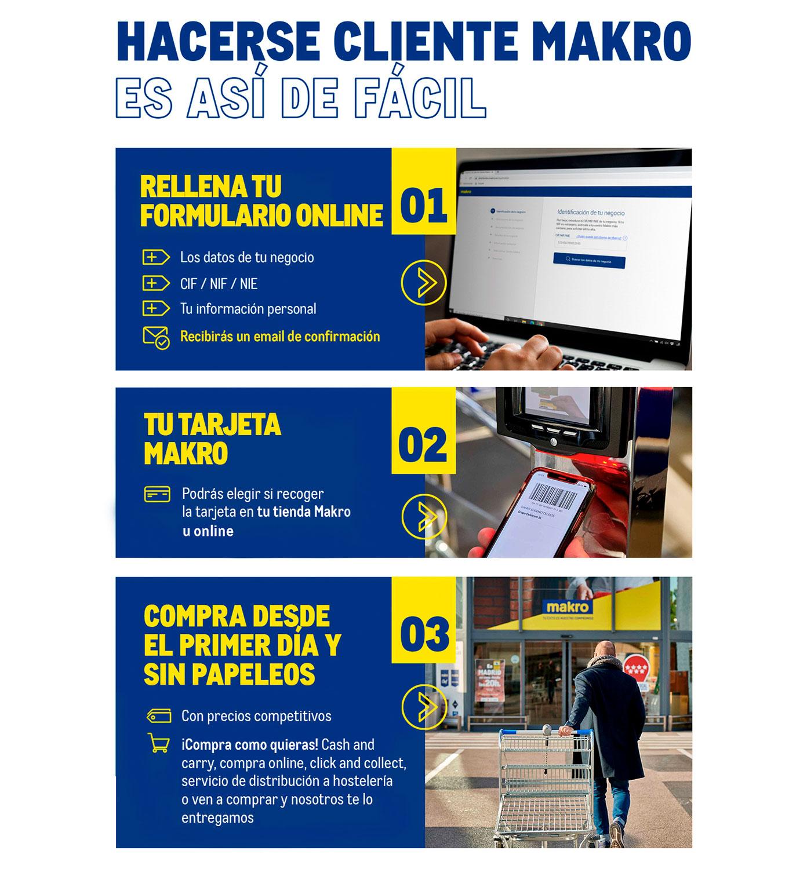 Cómo hacerse cliente Makro