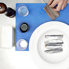 Sardinas marinadas ahumadas - Paso 1