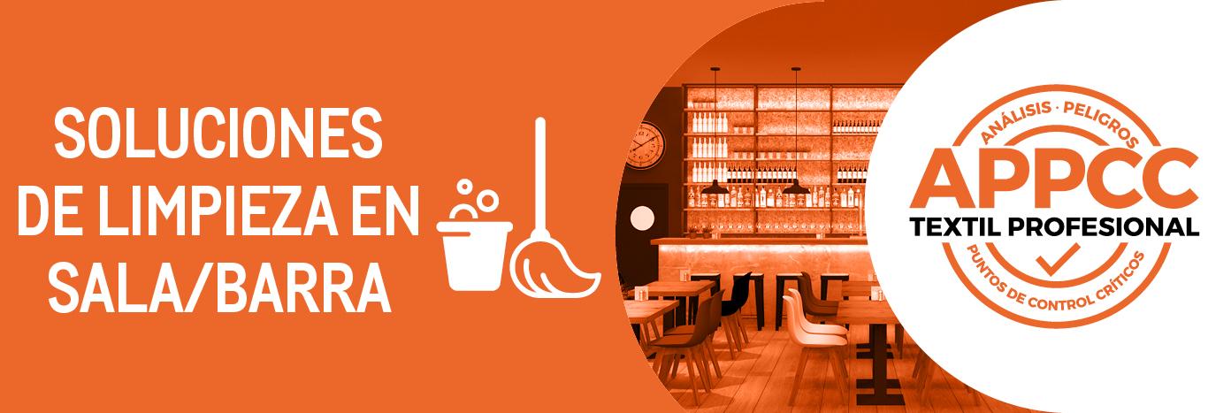 Soluciones Makro limpieza en sala y barra