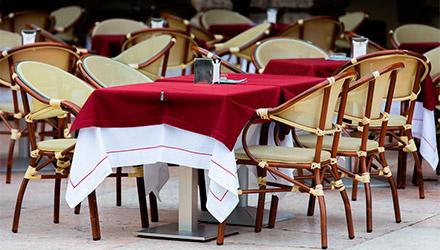 Cubremanteles de Makro para restaurante profesional