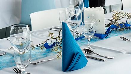 Textil de Makro personalizado para restaurante profesional