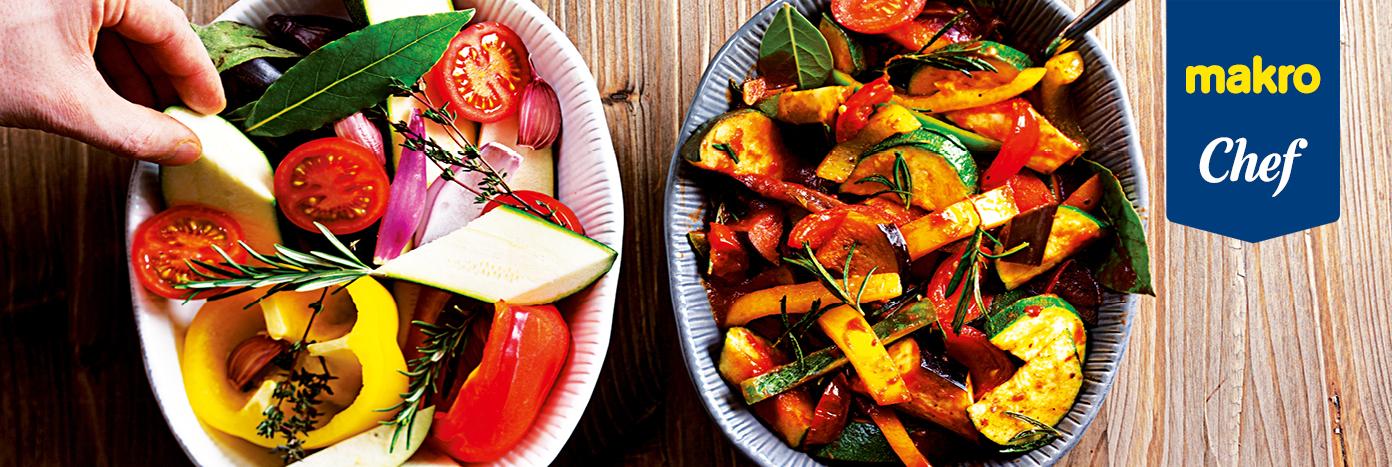 Cabecera Makro Chef con verduras asadas