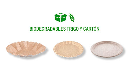 Elementos desechables biodegradables