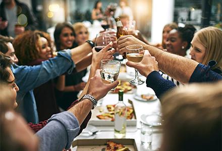 Clients au restaurant