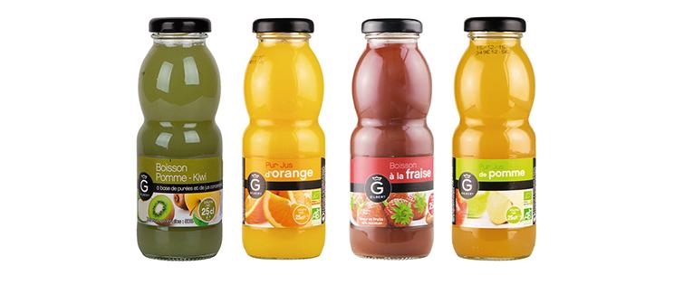 Gilbert : les jus de fruits et nectars