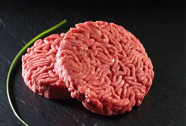 La viande de boeuf hachée