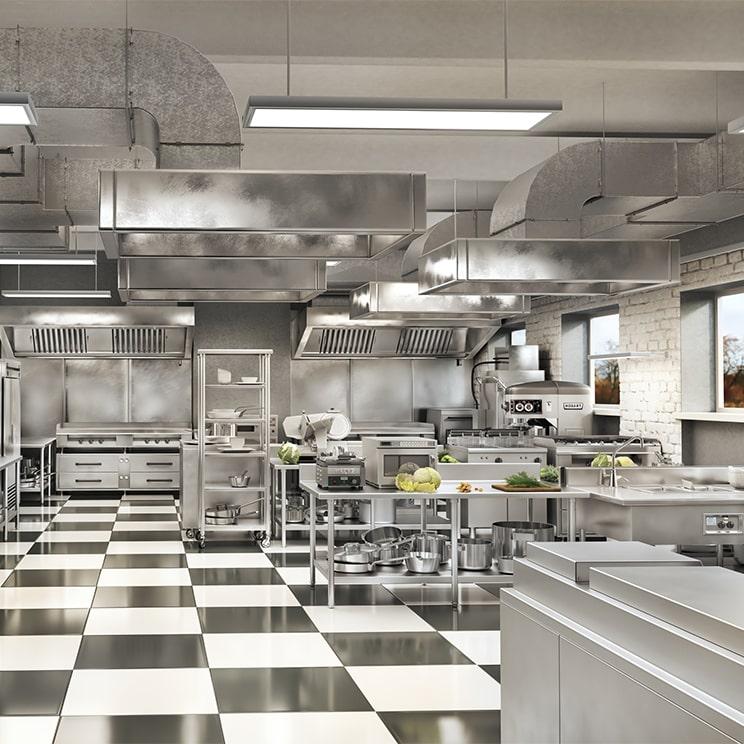 L'installation d'équipement professionnels - Cuisine moderne