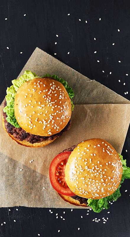 Szezámmagos hamburger cipó
