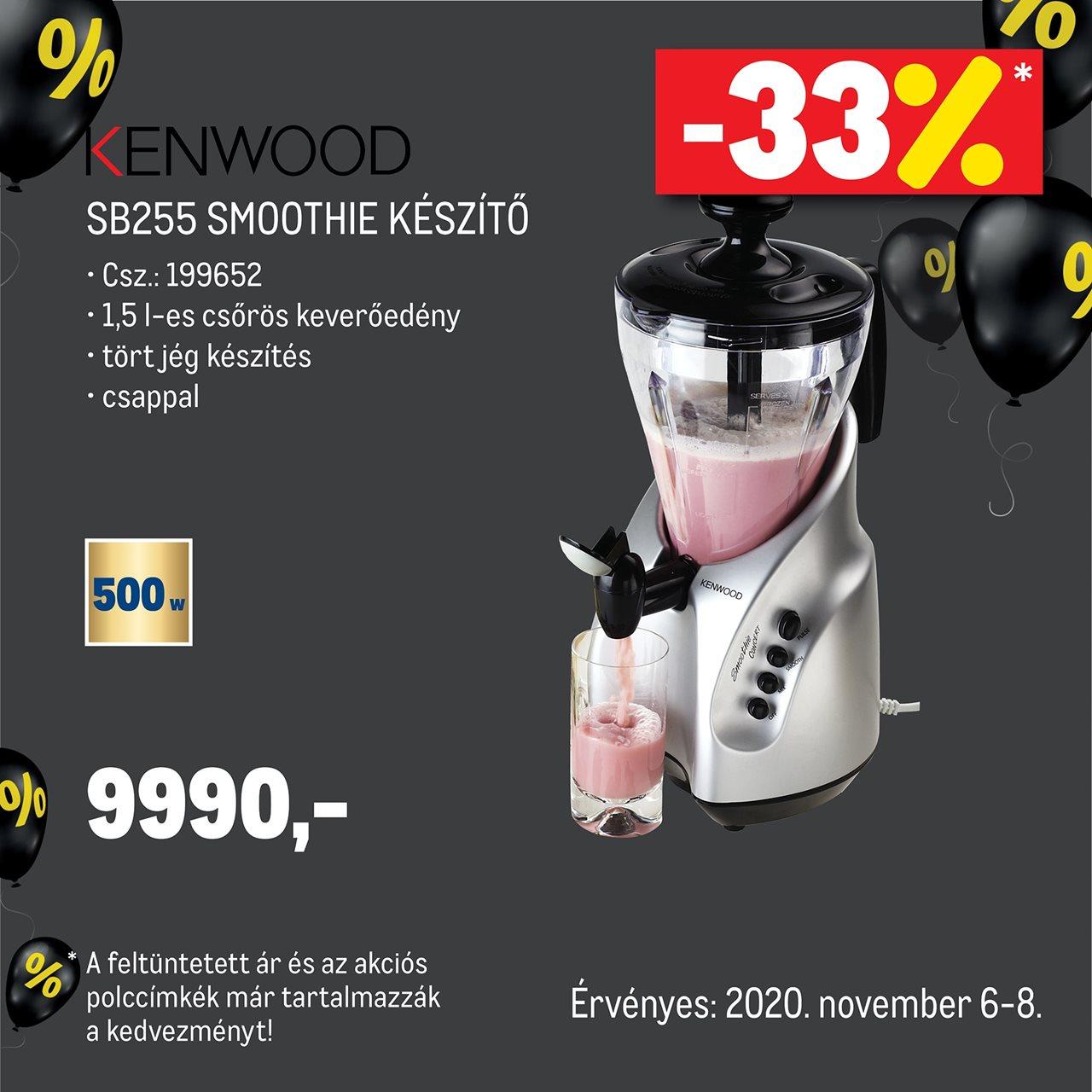 Kenwood SB255 smoothie készítő