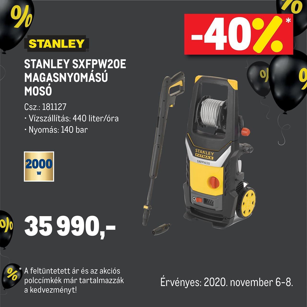 Stanley SXFPW20E magasnyomású mosó
