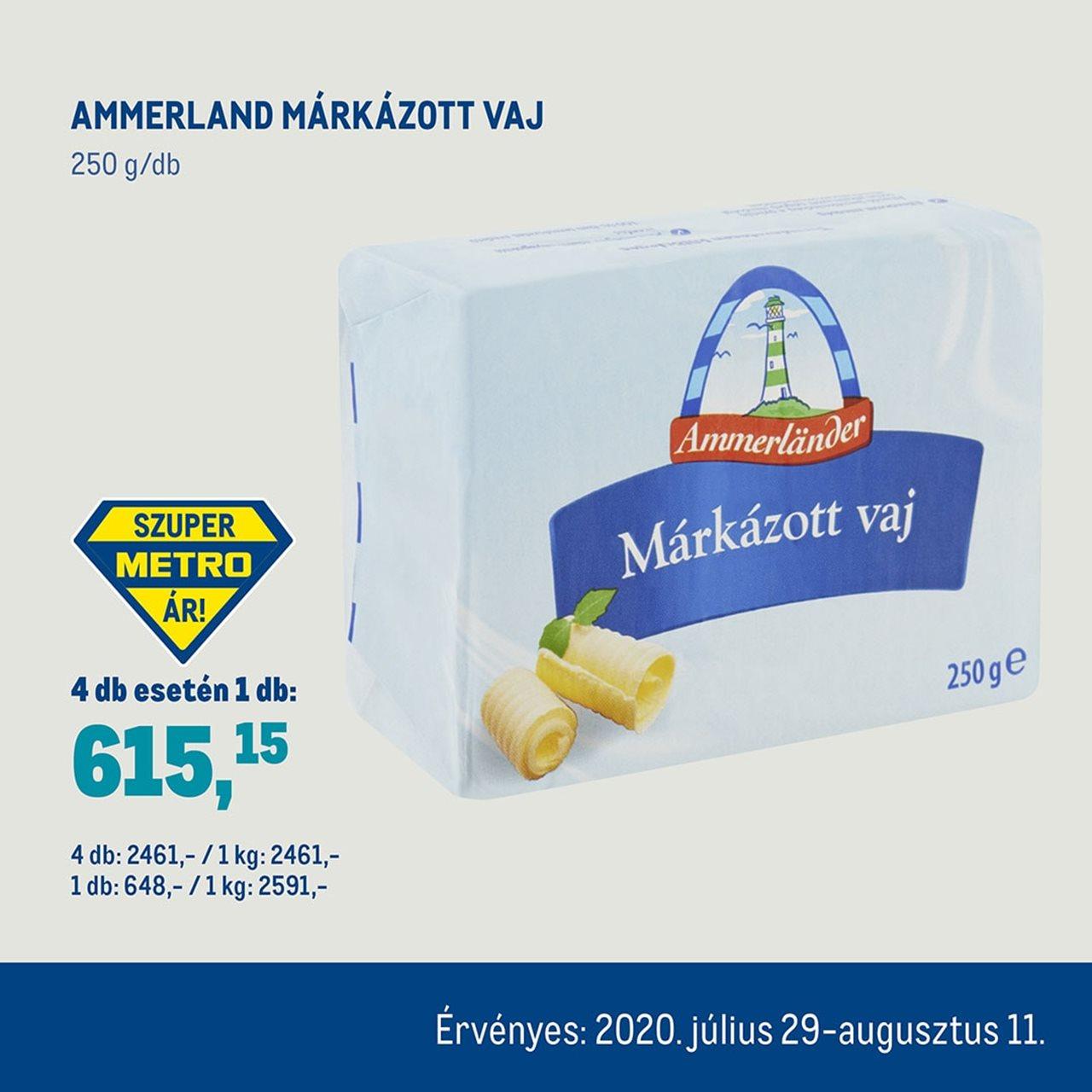 Ammerland márkázott vaj
