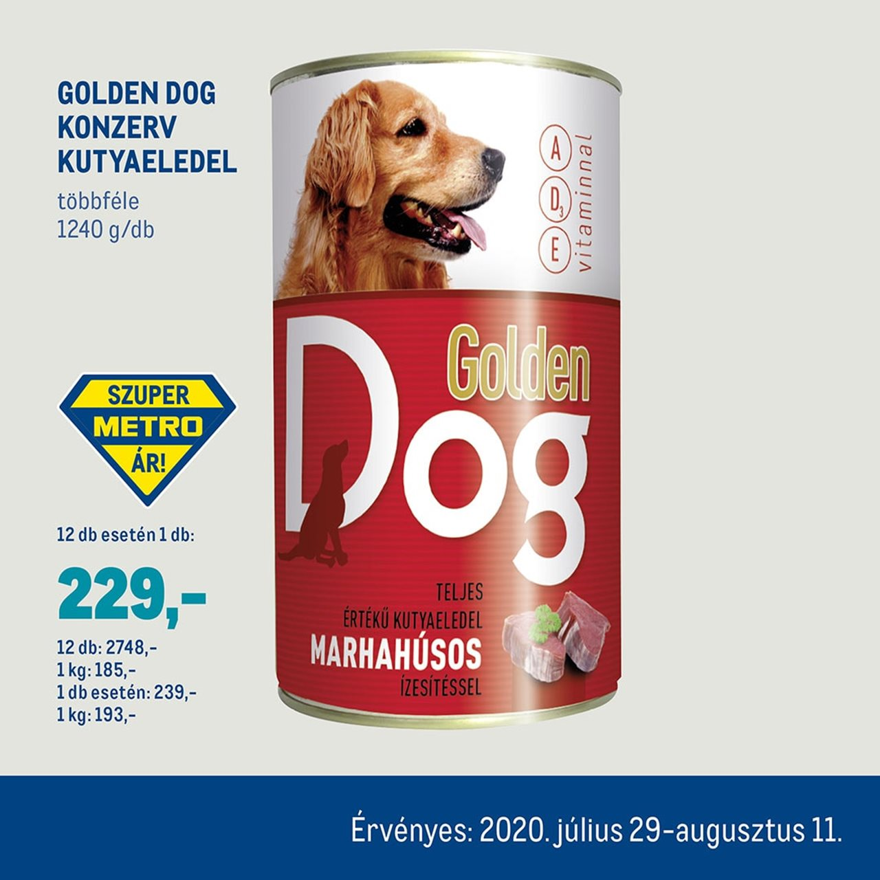Golden Dog konzerv kutyaeledel