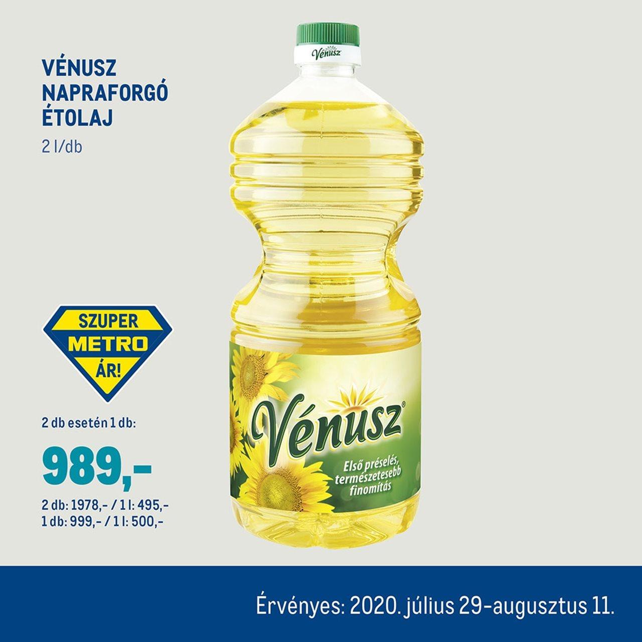 Vénusz napraforgó étolaj