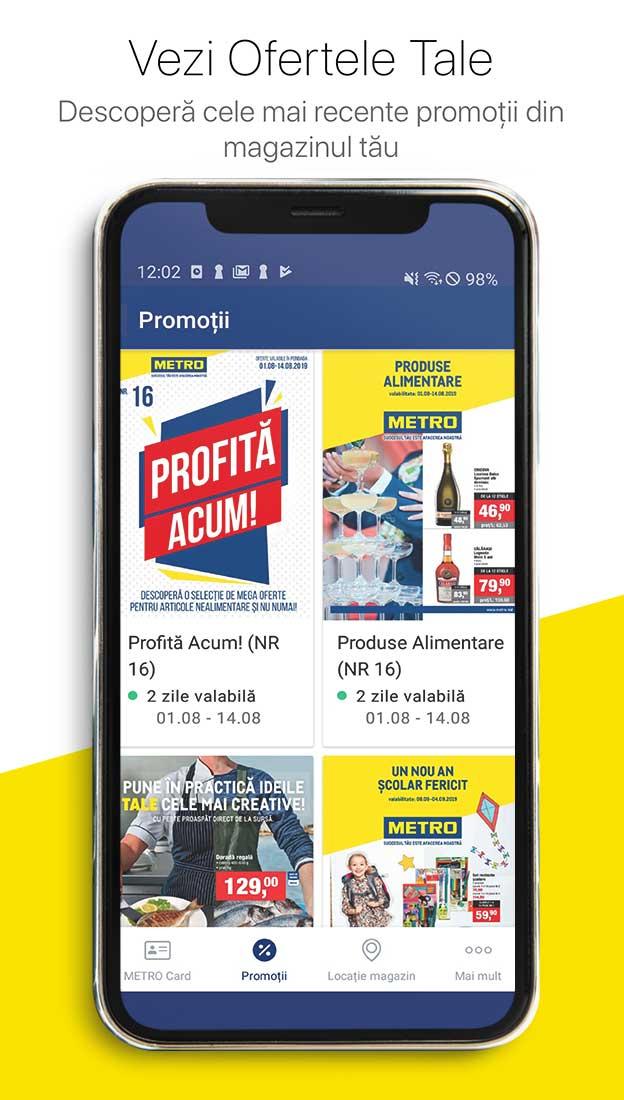 Vezi ofertele pe telefonul tau cu aplicatia mobila METRO