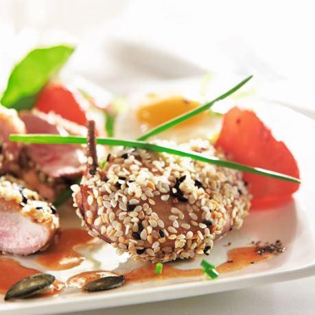 Carne proaspata de prepelita gatita cu susan