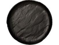 Tanier hlboký porcelánový Vulcania 33cm čierny Tognana 1ks