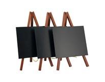 Menu tabuľa stolná mahagón 15x25cm 3ks