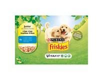 Friskies Vitafit Junior s kuracím mäsom a hráškom kapsičky 4x100 g