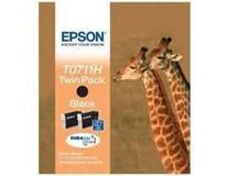Cartridge T0711H black twinpack Epson 1ks