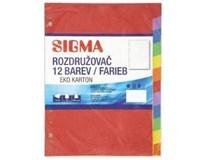 Rozdružovač A4 12 farieb SIGMA 1ks