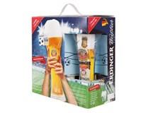 Erdinger futbal pack 5x500 ml SKLO + pohár