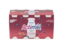 Danone Actimel nápoj granátové jablko a čučoriedka chlad. 8x100 ml