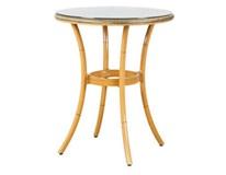 Stôl Bambus okrúhly textília,sklo,hliník 60x74cm Metro Professional 1ks
