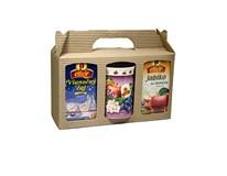 Agrokarpaty Darčeková kazeta Vlnka mix 60 čajov Elixir Ovocný mix,Sviatočný čaj+ hrnček 1x120 g