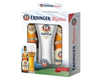 Erdinger pivo 2+1 3x500 ml SKLO + pohár