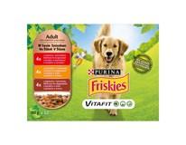 Friskies kapsičky adult dry dog hovädzie/kuracie 12x100 g