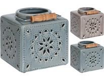 Lampáš s výrezmi kocka keramika 16,5x16,5x16cm 1ks