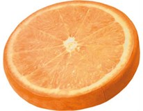 Sedák s dekorom pomaranč priem. 38cm výška 6cm 1ks