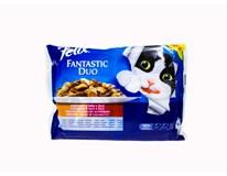 Felix Fantastic Mäso duo krmivo pre mačky 4x100 g