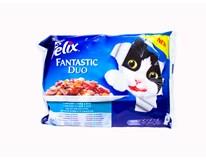 Felix Fantastic Ryba duo krmivo pre mačky 4x100 g